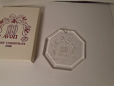 New Vintage Avon Merry Christmas 1986 Ornament, 100Th Anniversary, Great Gifts