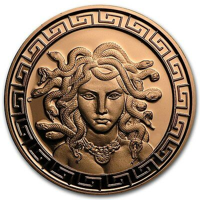 The Great Medusa 1 oz .999 Copper BU Round USA Made American Bullion Coin