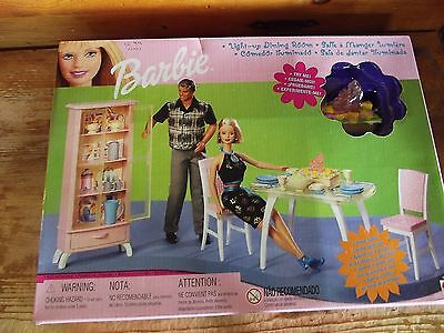 Barbie Doll 2000 Light Up Dining Room Playset Furniture  MIB