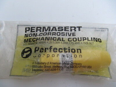 "(NEW) Perfection Permasert 1/2"" Non-Corrosive Gas Coupling PE2406 CEC 50034"