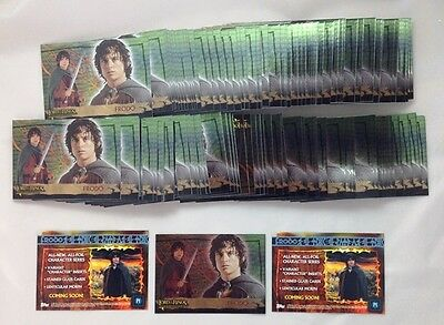 Lot of 145 Cards 2005 Topps The Lord of The Rings Evolution P1 Promo Card Frodo