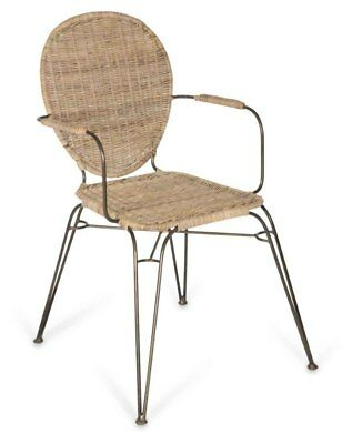 Putini Dining Armchair Metal Frame with Webbing