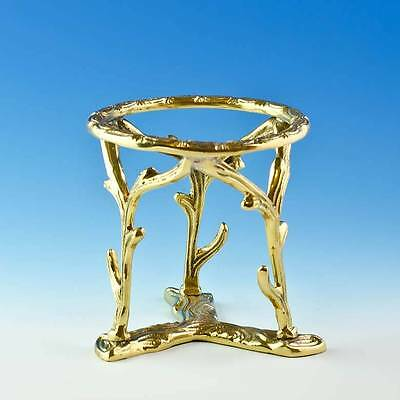 Branches Gold Tone Metal Ostrich Egg or Large Sphere Holder Display Stand
