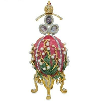 """1898 Lilies of the Valley Royal Russian Egg 8"""""""