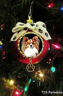 Papillon-Christmas Ball Ornament Pet Lovers Gift by TJS Furbabies