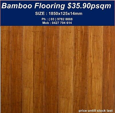 Carbonized Strand Woven Bamboo Floor |1850x125x14mm $35.90psqm