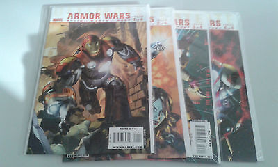 Ultimate Iron Man Armour Wars Complete Mini Series Issues 1,2,3,4