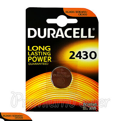 1 x Duracell Lithium CR2430 3V Coin Cell battery DL2430 ERC2430 K2430L