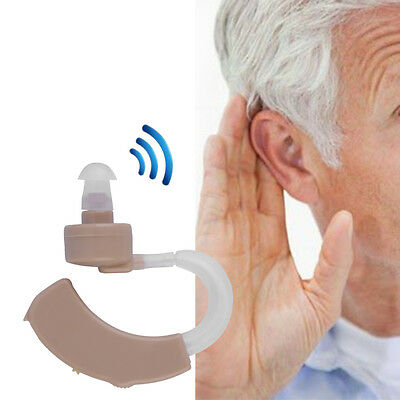 Behind the Ear Hearing Amplifier Hearing Aid Enhancer Sound Amplifier New WB