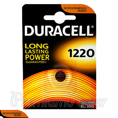 1 x Duracell Lithium CR1220 3V Coin Cell battery DL1220 KCR BR2430 EXP:2025
