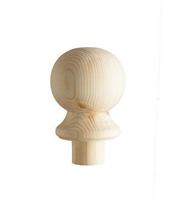 Cheshire Mouldings Pine Newel Post Ball Cap | For Stairs | Rail Balustrade