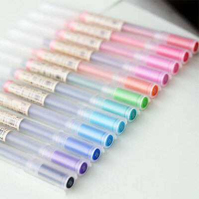 MUJI Gel Ink Ball Point Pen Japan Made 12 bright colors 0.38 0.5 mm Black Pink