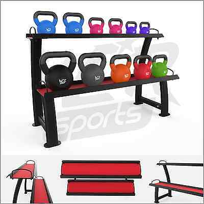 Kettlebell Rack 2 Tier Home Gym Kettlebells Weight Storage Display Stand Racks