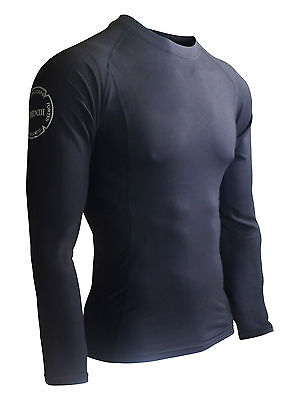 IRONCORPS Fortuna Men's Long-Sleeved Compression Shirt/ Rashguard - Gym or Fight