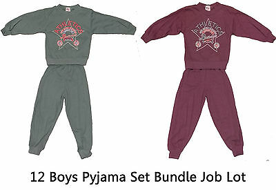 12x Job Lot Boys Pajama Sets Bulk Wholesale Ages 2 to 6 Job Lot Clearance Bundle