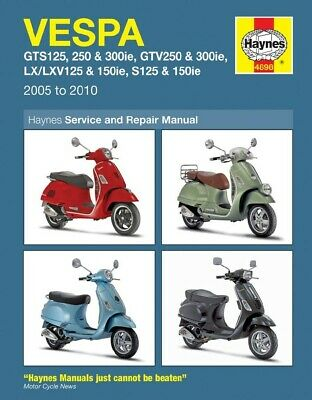 Haynes Manual Vespa GTS,GTV,S,LX125,250 & 300ie(fuel injected) (Each)