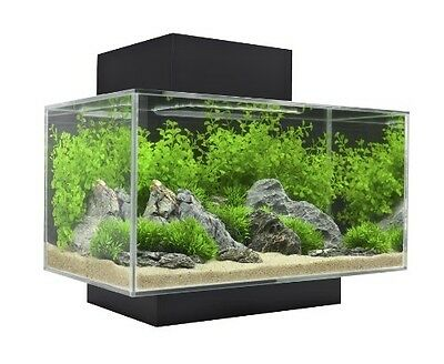 New Aquarium Fish Tank 23L, Led + Water Filter Complete Easy Set Up Fluval Edge