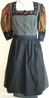 Krueger German Trachten Dirndl Dress W. New Apron Oktoberfest Sz. EU 46  EUC