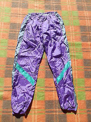 VINTAGE Pantalon Track Pants Lined Old School Nylon Sport Athletics Jogging S