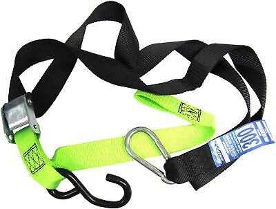 Tie Downs 38mm wide Green/Black with hook & snap hook (Pair)