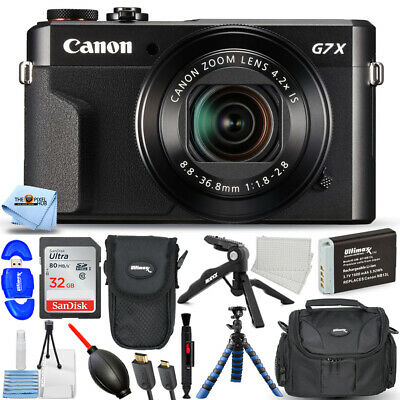 Canon PowerShot G7 X Mark II 20.1MP HD Digital Camera #1066C001 PRO BUNDLE