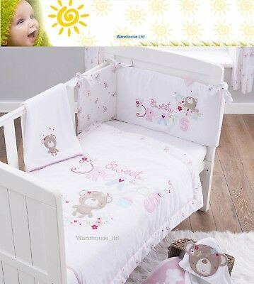 Silvercloud Counting Sheep 3 piece Bedding Set Cot Bed Set Gift