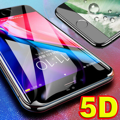 5D Full Cover Curved Tempered Glass Screen Protector for iPhone 6 6S 7 8 Plus X