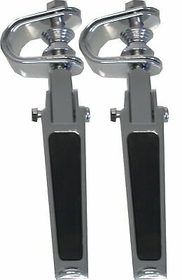 Footrests Clamp-On Rubber Inlay Style (Pair)
