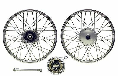 Front Wheel CG125 style drum with brake plate(Rim 1.40 x 18) (Each)