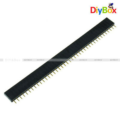 10Pcs 40pin 2.54mm Single Row Straight Female Pin Header Strip PBC Arduino TOP