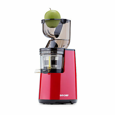 BioChef WHOLE Slow Juicer, Cold Press Juice & Sorbet Attachment - Red