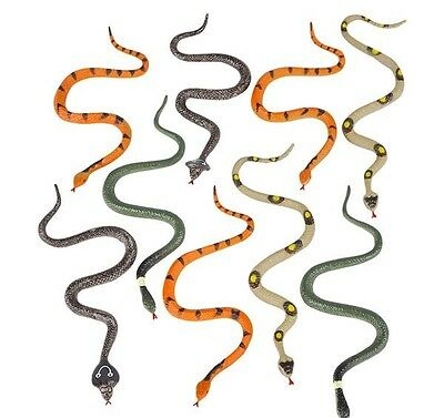 1 Pack Of 12 Plastic 6 Inch Fake Snakes New Gag Gift Joke Toy