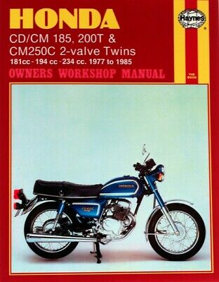 Haynes Manual Honda CD185T,CD200T,CM185T,CM200T,CM250C 77-85 (Each)