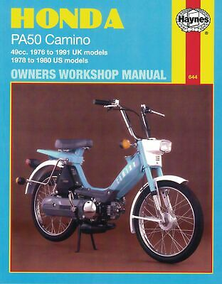 Haynes Manual Honda PA50 Camino 76-91 (Each)