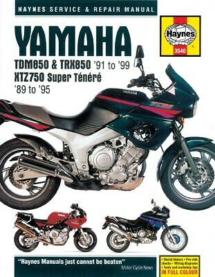 Haynes Manual Yamaha TDM850,TRX850,XTZ750 Super Tenere 89-99 (Each)