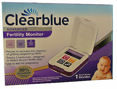 Clearblue Advanced Fertility Digital Touchscreen Monitor Ovulation Pregnancy NEW