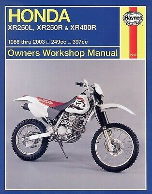 Haynes Manual Honda XR250L 91-96,XR250R,XR400R 86-03 (Each)