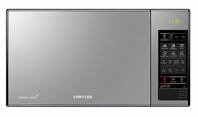 New Samsung GE83X Microwave Black Glass Mirror 23 L Ceramic Inside Free Postage