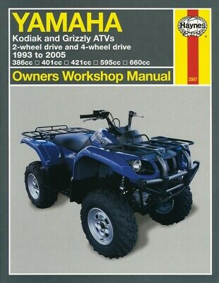 Haynes Manual Yamaha Kodiak 400,425 & Grizzys 600 93-05 (Each)
