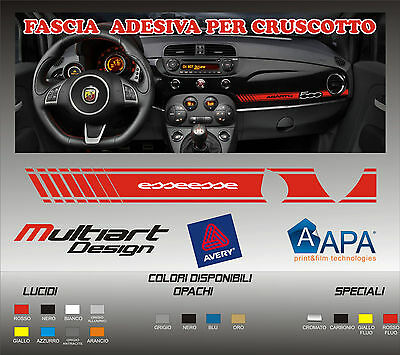Fascia adesiva sticker per cruscotto 500 ABARTH ESSESSE pellicola professionale