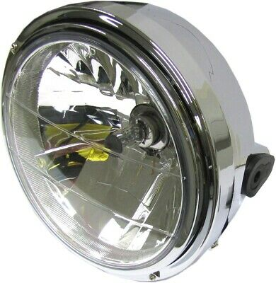 "Headlight Round Complete Yamaha XJR400 8""Clear Glass (Each)"