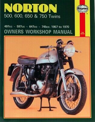 Haynes Manual Norton 500,600,650,750 Twins 57-70 (Each)