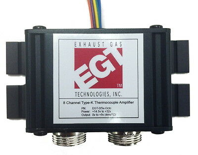 EGT Octo (8) Channel  K-Type Thermocouple Convertor/Amp to 0-5V KIT W/ Sensors