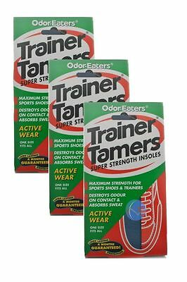 3 x ODOR-EATERS TRAINER TAMERS SUPER STRENGTH INSOLES.WASHABLE**Free Post**