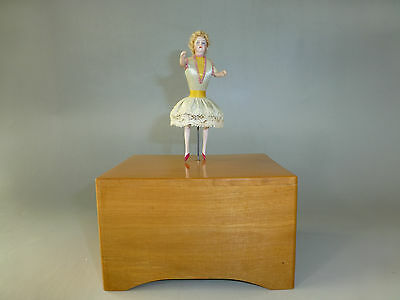 RARE 1900 Antique French Dancing Dancer Music Box Musical Automaton (See Video)