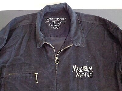 MALCOLM IN THE MIDDLE Vintage TV Show 1999 Promo Cast Crew Jacket Size XL
