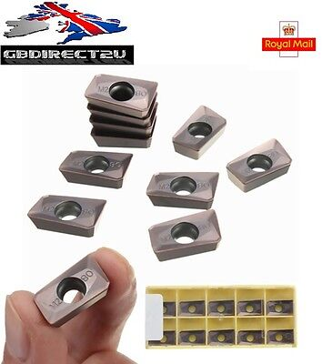 10pcs 25R0.8 Carbide Inserts For Mill Cutter CNC Tool NEW 2016 UK