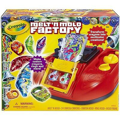 Crayola Melt 'N Mold Factory, multicolor creations, colorful wax (74-7060) NEW