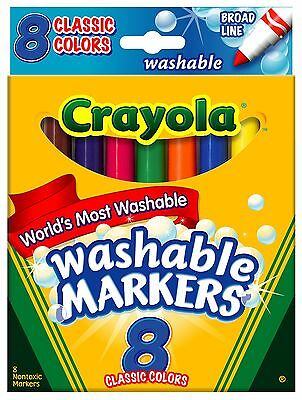 BIN587808 - Classic Colors Washable Waterbased Markers Pack of One {58-7808} NEW