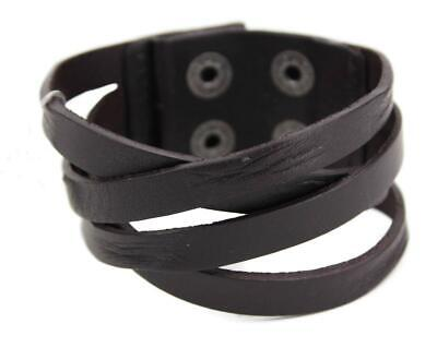 Guess Men's Braided Cuff Wristband Bracelet Cross Road 102252 Black